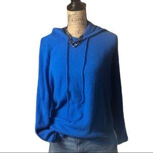 Halogen blue long sleeved hooded sweater